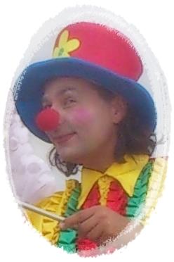 klaun Apsik na urodzinach