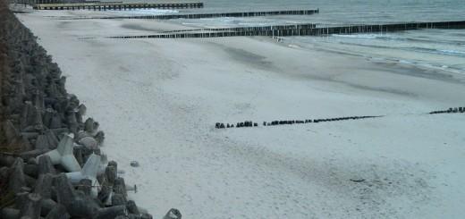 Ustronie Morskie- Plaża po orkanie