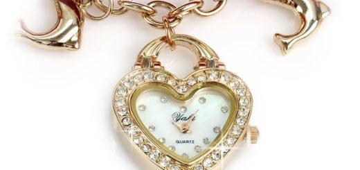 zegarek damski z kryształkami