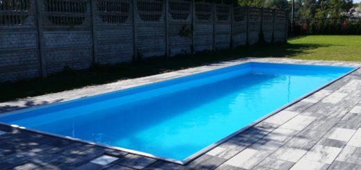 zamontowany basen ogrodowy