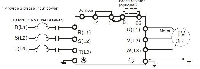 podłączenie falownika 3 fazowego